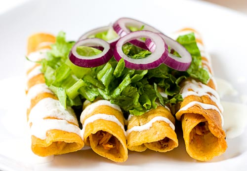 Flautas de pollo receta