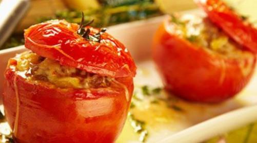 Jitomates rellenos de escamoles receta
