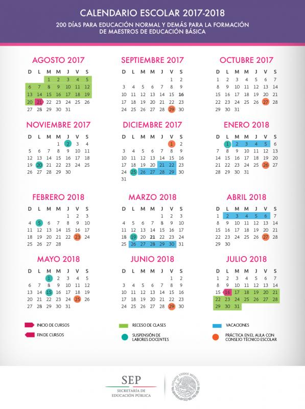 Calendario Escolar 2017-2018 (200 días)