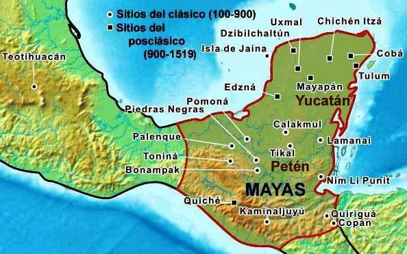 ¿Qué estados de México poblaron los mayas?