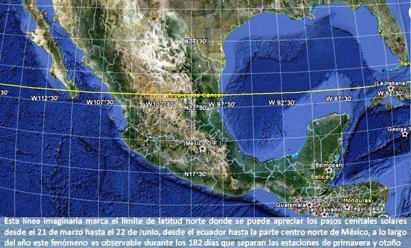 ¿Por dónde pasa el Trópico de Cáncer en México?