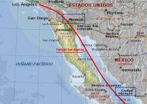 ¿Dónde pasa la falla de San Andrés en México?