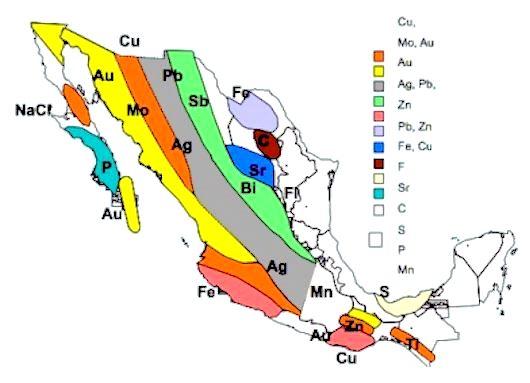 Metales de mayor producción en México