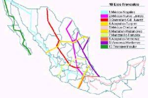Principales carreteras de México