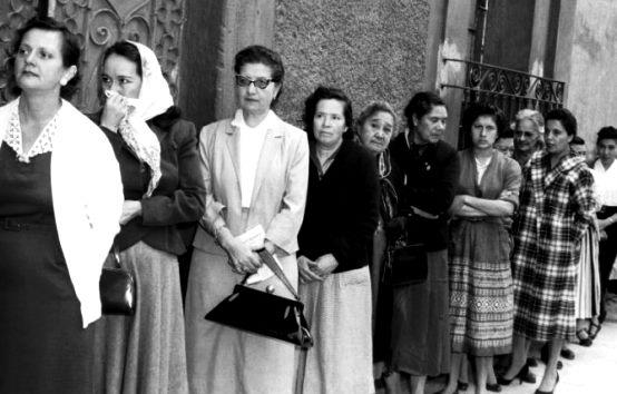 El voto de la mujer en México