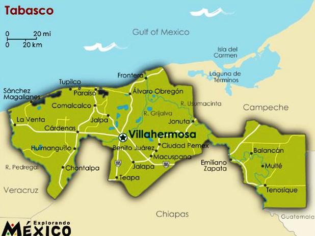 ¿Cuál es la capital de Tabasco?