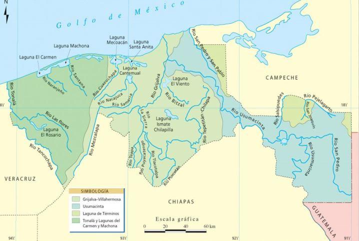 Principales ríos de Tabasco