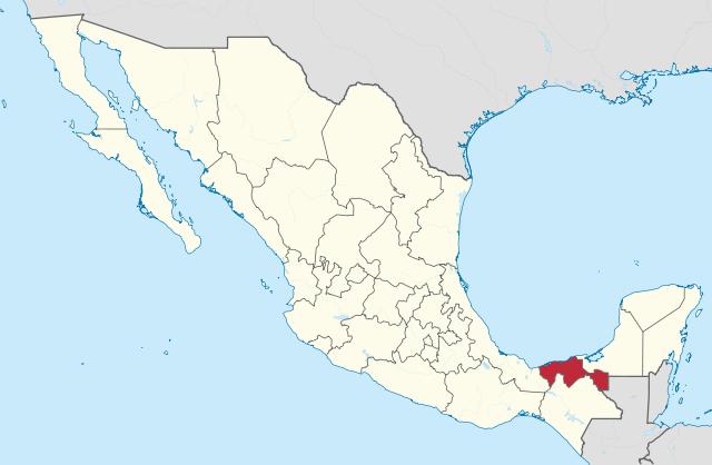Ubicación Geográfica de Tabasco