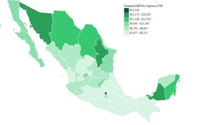 PIB per capita en México