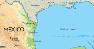 Ríos que desembocan en el Golfo de México